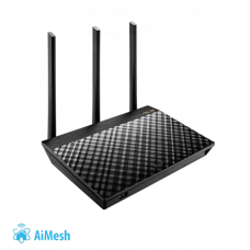 Asus Router RT-AC66U B1 802.11ac, 450+1300 Mbit/s, 10/100/1000 Mbit/s, Ethernet LAN (RJ-45) ports 4, Mesh Support Yes, 3G/4G via optional USB adapter, Antenna type 3xExternal, 1xUSB 2.0/1xUSB 3.0, AiMesh, AiProtection Powered by Trend Micro, compatible wi