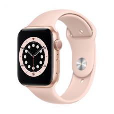 Apple Aluminium Case with Sport Band - Regular LT Series 6 GPS Smart watch, GPS (satellite), LTPO OLED Retina, Touchscreen, Heart rate monitor, Waterproof, Bluetooth, Wi-Fi, Gold/Pink