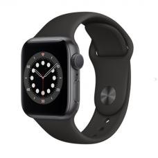 Apple Aluminium Case with Sport Band - Regular LT Series 6 GPS Smart watch, GPS (satellite), LTPO OLED Retina, Touchscreen, Heart rate monitor, Waterproof, Bluetooth, Wi-Fi, Black
