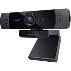 Aukey Webcam PC-LM1E Black, USB 2.0