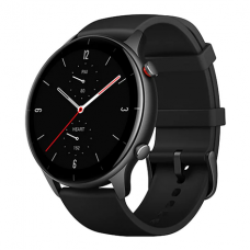 Amazfit GTR 2e Smart watch, GPS (satellite), AMOLED Display, Touchscreen, Heart rate monitor, Activity monitoring 24/7, Waterproof, Bluetooth, Obsidian Black